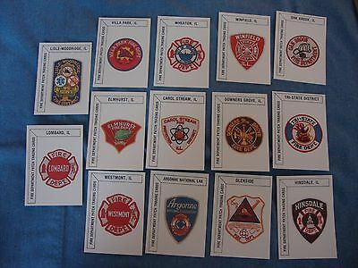 Set of 14 Fire Department Patch Trading Cards