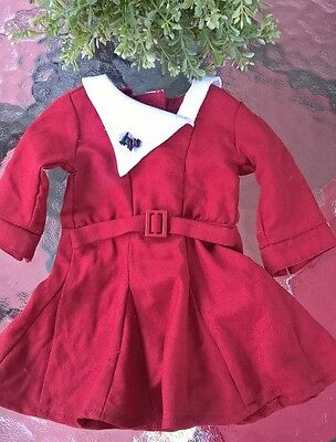 American Girl Doll Kit Christmas Red Dress with Scottie Dog