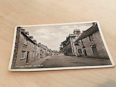 1930s Real Photo Postcard of Witney Street, Burford (Oxfordshire)