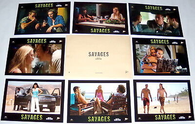 SAVAGES Blake Lively Salma Hayek Taylor Kitsch Aaron Johnson 8 FRENCH LOBBYcARDs