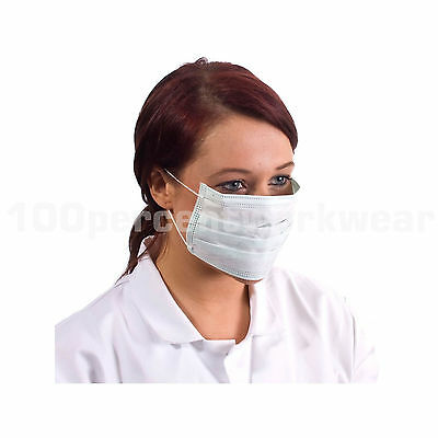 1000 Supertouch Non Woven Ear Loop Disposable Face Mask Food Hygiene Medical Lab