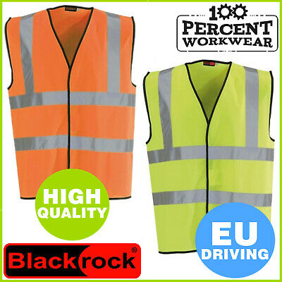 EU Driving High Visibility Reflective Safety Vest Waistcoat Motorcycle Riding