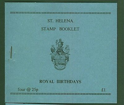 ST.Helena 1991 £1 Stamp Booklet Royal Birthdays MNH Complete