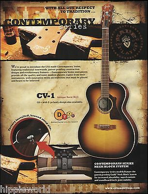 The Guild Contemporary Series CV-1 817 acoustic guitar ad 8 x 11 advertisement