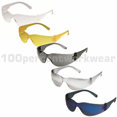 RHINOtec Lightweight Contour Design Safety Spectacles Specs Glasses Clear Smoke