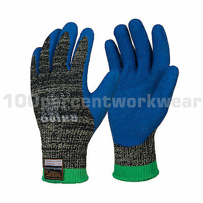 RHINOtec Latex Palm Coated Level 5 Cut Resistant Grip Work Safety Gloves Gripper