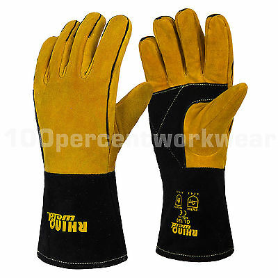 RHINOweld Superior Reinforced Welding Welders Gauntlet Work Safety Gloves Lined