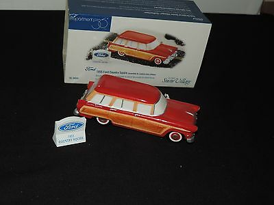 Dept 56 Christmas Snow Village 1955 FORD COUNTRY SQUIRE 54950 Department