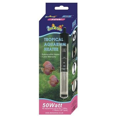 Fish R Fun 50w Tropical Aquarium Heater FRF-AH50 Fish Tank Water Den Marketing