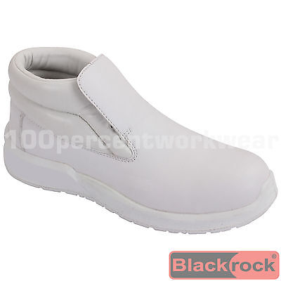 Blackrock SRC01 Safety Work Boots WHITE Steel Toe Cap Food Medical Lab Catering