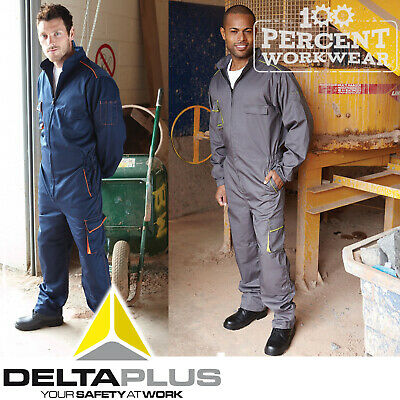 Delta Plus Mechanics Race Engineer Industry Work Overalls Boiler Suit Coveralls