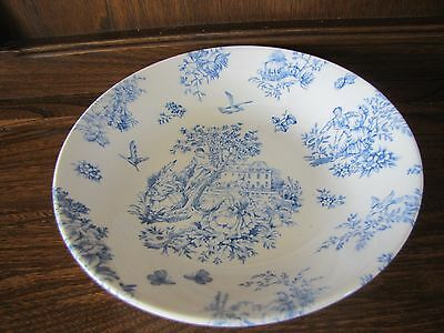 Queen's~Toile de Jardin~Blue and White. 1X20cms Soup/Pasta Bowl