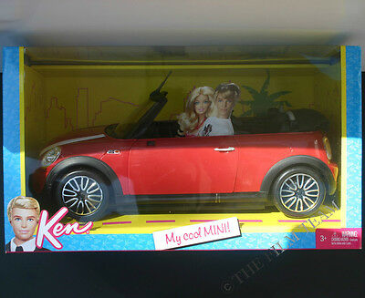 Barbie Ken My Cool Red Mini Cooper..Ages 6 Up And Collectors, Mattel #W3157 NRFB