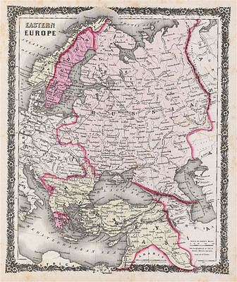 1858 Colton Map of Russia and Eastern Europe