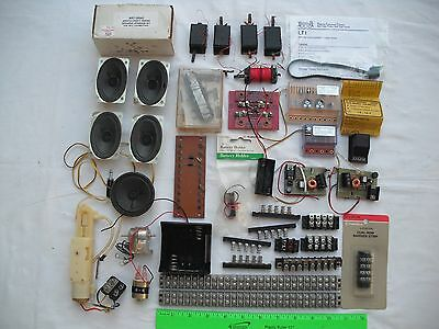 Lot of MANY Assorted Electrical Parts, Control Unit Barrier Strip Motor Speakers