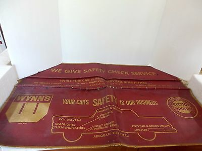 Vintage Wynn's Friction Roofing  Safety Service  Fender Cover