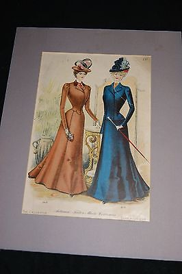 1899 Color Print The Delineator Autumn Tailor Made Costumes Lady