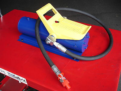 "Hydraulic Air Foot Pump 10,000psi /10 Ton With 1.5 Meters Hose & 1/4"" Fitting"