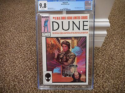 Dune 1 cgc 9.8 Marvel 1985 movie WHITE pages part 1 of 3 MINT Space adventure