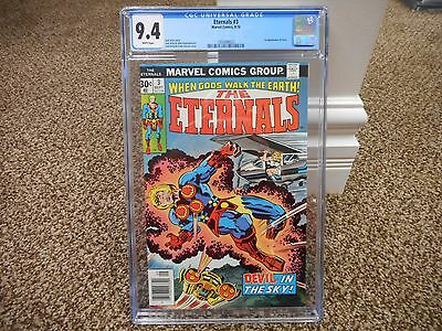 Eternals #3 cgc 9.4 1st appearance of Sersi Marvel 1976 WHITE pages Avengers