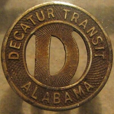 Very Old Decatur, AL Transit Bus Token AL