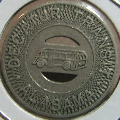 Very Old Decatur Transit Bus Token - Decatur, AL Alabama