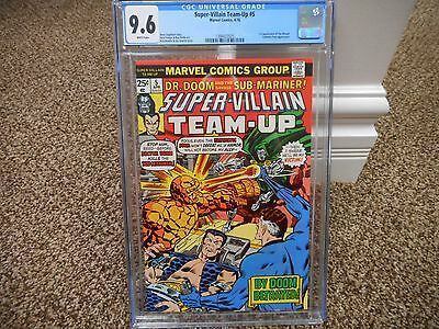 Super-Villain Team-Up 5 cgc 9.6 1st appearance of Shroud Doctor Doom Marvel 1976