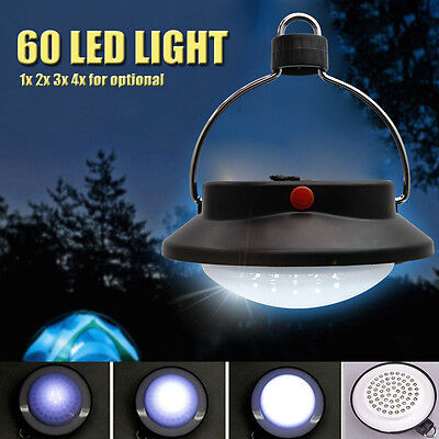 Ultra 60 LED Bright Rechargeable Camping Tent Light Hiking Fishing Lantern Lamp