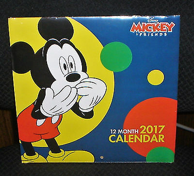 Disney Mickey & Friends 12 Month 2017 Calendar - New & Sealed