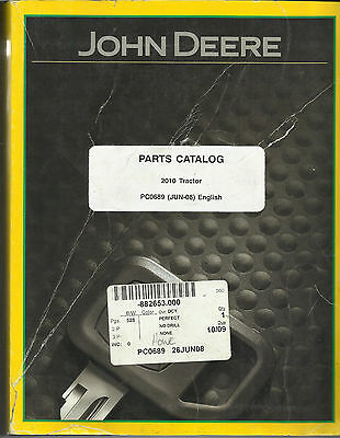 John Deere Parts Catalog 2010 Tractor PC0689 (Jun-08)