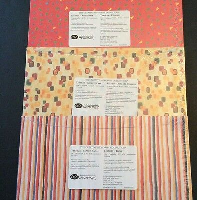 Creative Memories Textiles Photo Mounting Paper 10x12 Lot Of 3 30 Sheets Design