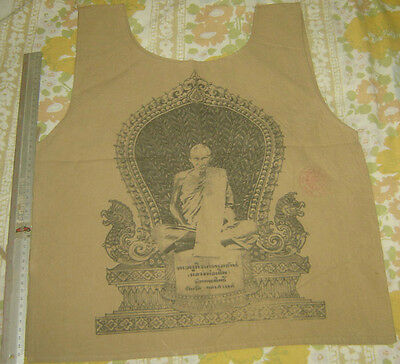 """Suaw-Yahn""Buddha  coat Holy Yantra Cloth""Lung Poo Durm Monk Wat Nomgpow Temple"