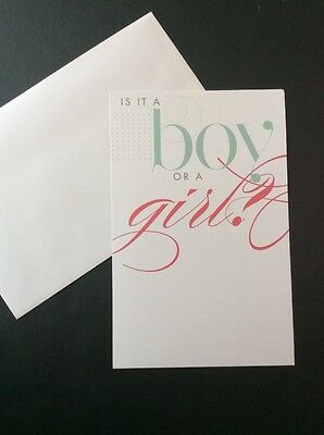Is It A Boy Or Girl Baby Shower Gender Reveal Party Invitations 10 Cards Blank