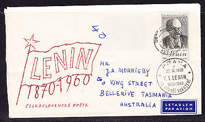 Czechoslovakia 1960 - Lenin's 90th Birthday First Day Cover - Addressed