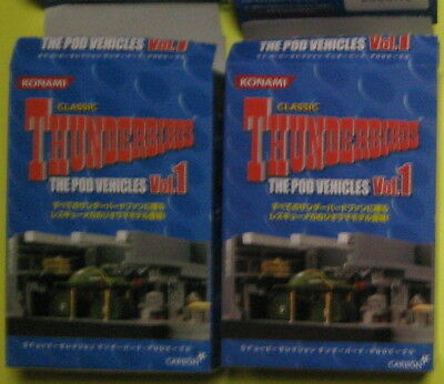 Konami Thunderbirds  POD Vehicle VOL.1 diorama 2 boxes !! Gerry Anderson NEW !!