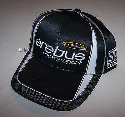 Erebus Motorsport Mens Black V8 Supercars Race Team Cap One Size New