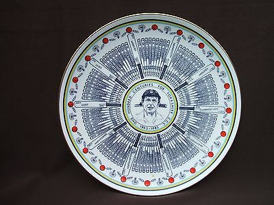 Old Coalport China Plate Geoffrey Boycott 100 Centuries for Yorkshire 1963-1985