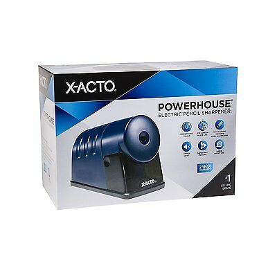 X-Acto Powerhouse Electric Pencil Sharpener School Large Office Translucent Blue