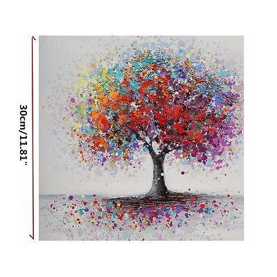 Framed Colorful Tree Abstract Canvas Picture Painting Home Wall Art Decoration