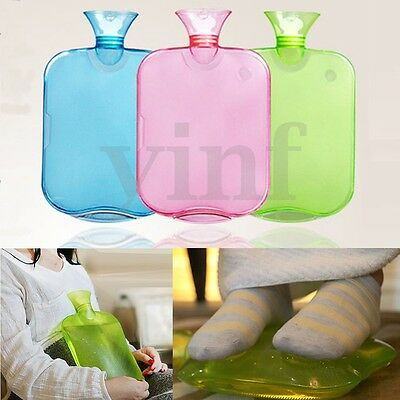 2000ML PVC Rubber Hot Water Bottle Bag Winter Warm Relaxing Heat Cold Therapy
