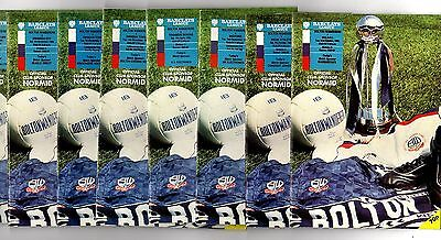 1989-1990 Bolton Wanderers  Home Programmes - select the one you want POST FREE