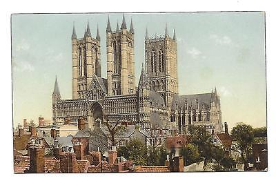 GNR, Great Northern Railway Postcard, Official. Lincoln Cathedral.