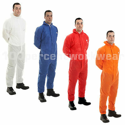 Supertouch Supertex SMS Disposable Overall Coverall Suit Hood Paint Spraying New