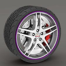"PURPLE Alloy Wheel Protector Rim Trim Strips 13"" to 22"" M17/5"