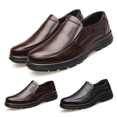 New Men Work Shoes Restaurant Cook Slip Resistant Business Office Casual Shoes