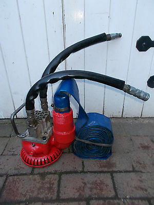 "Hydraulic Submersible Water Pump. Hydraulic. With 2"" Layflat Hose"