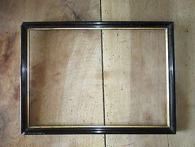 Framework old Napoleon III black and golden dimensions of rabbet : 37,7 x 26,8