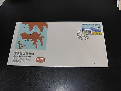 CHINA Hong Kong 1972 Sc#270 Cross Harbor Tunnel First Day Cover Unaddress