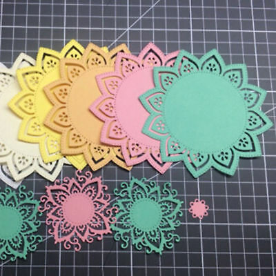 1x New Mandala Flower Metal Cutting Dies Stencil For DIY Scrapbooking Embossing