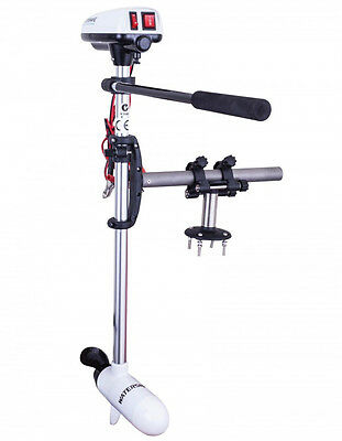 Watersnake Electric Outboard Motor T24. 24lb Thrust with Kayak Bracket